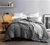 Alloy Blended Textured Quilt - Single Tone - Oversized Full XL