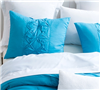 King sized cozy soft bedding pillow sham sets - Peacock Cadence Textured King Sham