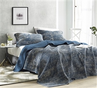 Filter Stone Washed Cotton Quilt - Nightfall Navy - Oversized Queen XL