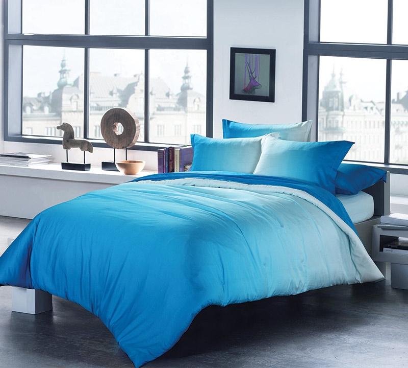 Ombre Aqua King Comforter