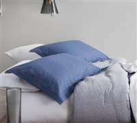 Softest bedding sham sets Queen size chisel blue - Add soft sheets and Queen sized pillow shams Chisel Blue