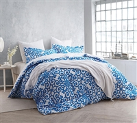 Crystalline Blue Bedding Sets in Queen - Queen Comforter Sets in Blue