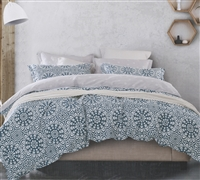 Oversized Full Bedding Comforters in Apollo Tealed Gray