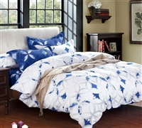 Extra Long Full Bedding Comforter Sets - Sapphire Peace Bed Comforter Sets in Full XL
