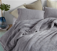 Super Soft Queen XL Comforter. Oversized Queen Bedding with Extended Length and Width. Gray Bedding Essential