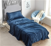 Me Sooo Comfy Extra Long Twin Sheets - Navy Bedding Sheets in Twin XL