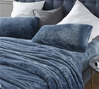 Me Sooo Comfy® Smoke Blue Sheet Set