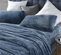 Me Sooo Comfy Queen Sheet Set - Smoke Blue