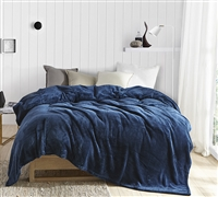 Most Comfortable Full/Full XL Bedding One of a Kind Me Sooo Comfy Nightfall Navy Blue Full XL Blanket