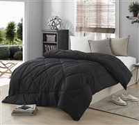 Queen Size Comforter Sets in Solid Black - Black Bedding Comforter In Queen