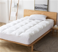 Pure Plush Full XL Mattress Pad - Memory Foam
