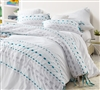 Threads Textured King Duvet Cover - Oversized King XL - Gray/Teal