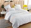 Threads Textured King Duvet Cover - Oversized King XL - Gray/Yellow