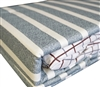 Overszied Twin Bed Sheets - Classic Gray Stripes Bedding Sheets Twin XL
