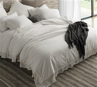 stone Wash Twin oversized Duvet Cover to encase softest bedding comforters