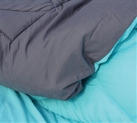 Oversize Full Bedding Comforter Sets - Caribbean Ocean/Gray Reversible XL Full Comforter