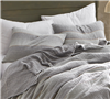 Soft Bedding King Shams in Gray - Add King sized bedding shams with duvet cover oversize King size