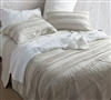 Khaki Beige Neutral Extended Full XL Stone Washed Bedding with Ruffled Pattern Full XL Quilt Stylish Silver Birch