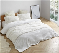 White Coma Inducer Sheet Sets sized for Queen and King Beds in the Are You Kidding? Plush Style