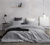 Duvet Cover Glacier Gray Supersoft Bedding - King