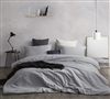 Oversized Twin XL Bedding Essentials Stylish Glacier Gray Supersoft Extra Long Twin Duvet Cover