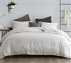 Stylish Off-White King Oversized Duvet Cover Comfortable Supersoft King XL Bedding Jet Stream