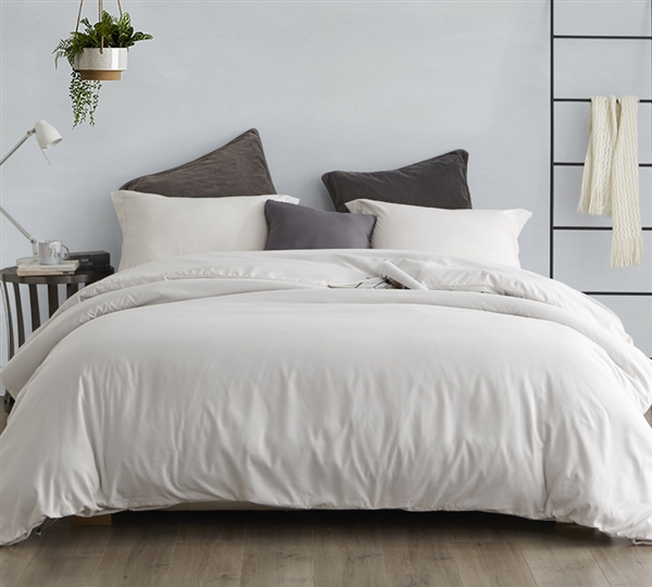 Comfortable Queen Oversize Bedding Stylish Extended Queen Duvet Cover for Queen Comforter Off White Jet Stream Supersoft
