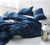 Duvet Cover Nightfall Navy Supersoft Bedding - Queen