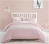 Beautiful Queen Oversized Bedding Pretty Pink Rose Quartz Extended Queen Duvet Cover Comfortable Supersoft