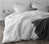 Essential Queen XL Cozy Supersoft Bedding Chic Stylish White Oversized Queen Duvet Cover