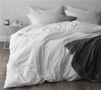 Twin XL oversized duvet cover - softest bedding duvet cover twin extended white