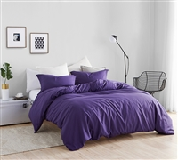 Queen XL Essential Supersoft Bedding Extra Long and Extra Wide Queen Duvet Cover Beautiful Purple Reign Queen Oversized Bedding Decor