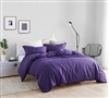 One of a Kind Twin XL Oversized Duvet Cover Stylish Purple Reign Supersoft Twin Extra Long Bedding