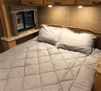 Short Queen Comforter - RV Bedding - Glacier Gray Alloy