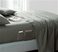 Bedside Pocket King Sheet Set - Supersoft Pewter