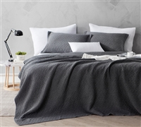 Softest Stone Washed Quilt - Pewter - Oversized Queen XL