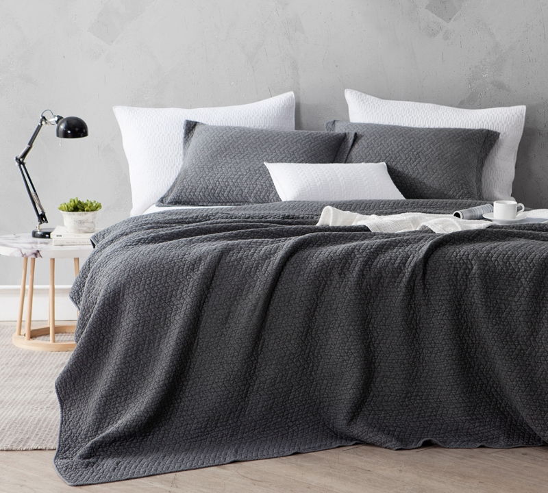 Softest Stone Washed Quilt Pewter Oversized Queen Xl