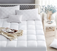 Ultimate Thickness - Down Alternative Queen Mattress pad - best bedding pads to buy with soft comforters