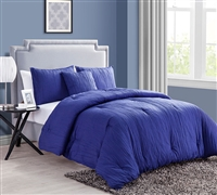 Best Comforter Sets King size - Crinkle 4PC King Comforter Set - Pool Blue