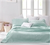 Wrinkle Quilt - Hint of Mint Stone Washed - Oversized Twin XL