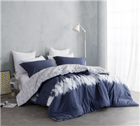 Navy Blur King Comforter