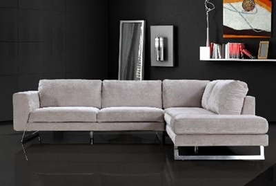 Milano 0659 Grey Microfiber Sectional