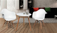 "Round White 24"" Table"