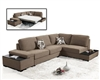 1015 Risto Sectional Sofa in Taupe Fabric