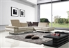 Divani Casa 1060 Beige Microfiber Sectional by VIG Furniture