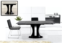 Modrest Split - Modern Black Extendable Dining Table