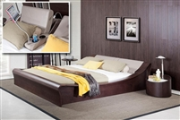 Modrest Geneva Contemporary Platform Bed w/ Lights, Cup Holders and iPad Holder by VIG Furniture