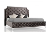 Modrest Leilah - Transitional Tufted Fabric Bed without Crystals by VIG Furniture