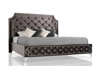 Modrest Leilah - Transitional Tufted Fabric Bed without Crystals
