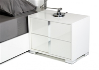 Modrest San Marino Modern White Right Nightstand by VIG Furniture MADE IN ITALY